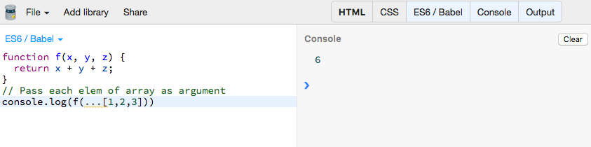 Try ECMAScript 2015 at JSBin without any installation. You can select Babel or Traceur as you JS compiler.